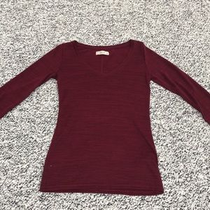 Dark red Abercrombie & Fitch long sleeve